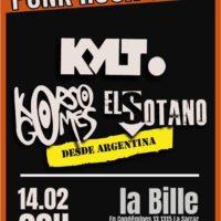 14/02 – KORSO GOMES + EL SOTANO + KYLT (punk)