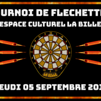 05/09 – TOURNOI DE FLECHETTES