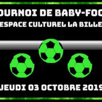 03/10 – TOURNOI DE BABY-FOOT