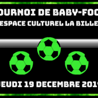 19/12 – TOURNOI DE BABY-FOOT