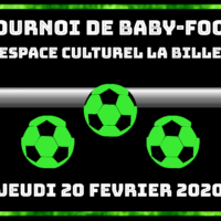 20/02 – TOURNOI DE BABY-FOOT