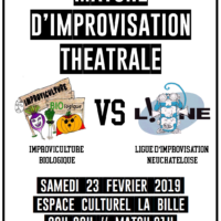 23/02 – Match d'impro: IMPROVICULTURE BIOLOGIQUE VS. LINE