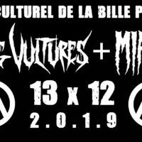 13/12 – AMONG VULTURES + MIASME (hardcore metal crust)