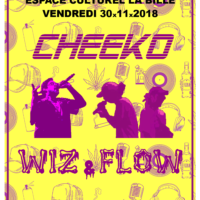 30/11 – Cheeko + Wiz' & Flow (rap, FR + CH)