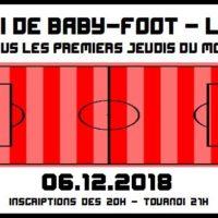 06/12 – Tournoi de baby-foot mensuel