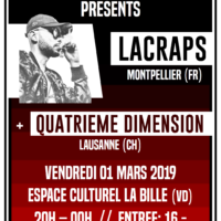 01/03 – LACRAPS + QUATRIEME DIMENSION (rap)