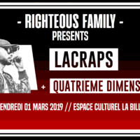 INFO: 01/03 – LACRAPS + QUATRIEME DIMENSION